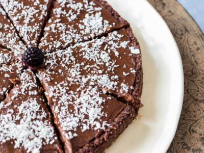 Che goduria la torta al cioccolato e cocco!