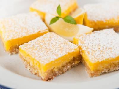 Quadrotti inglesi al limone (lemon bar)