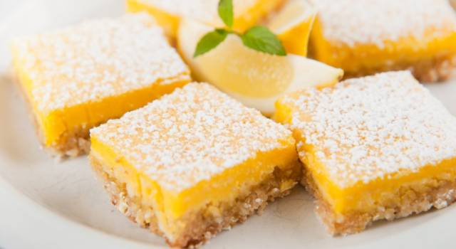 Quadrotti inglesi al limone (lemon bar)