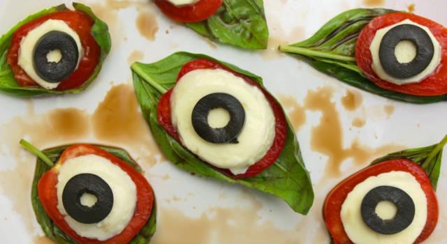 Occhi di caprese per Halloween: una ricetta semplice e divertente!
