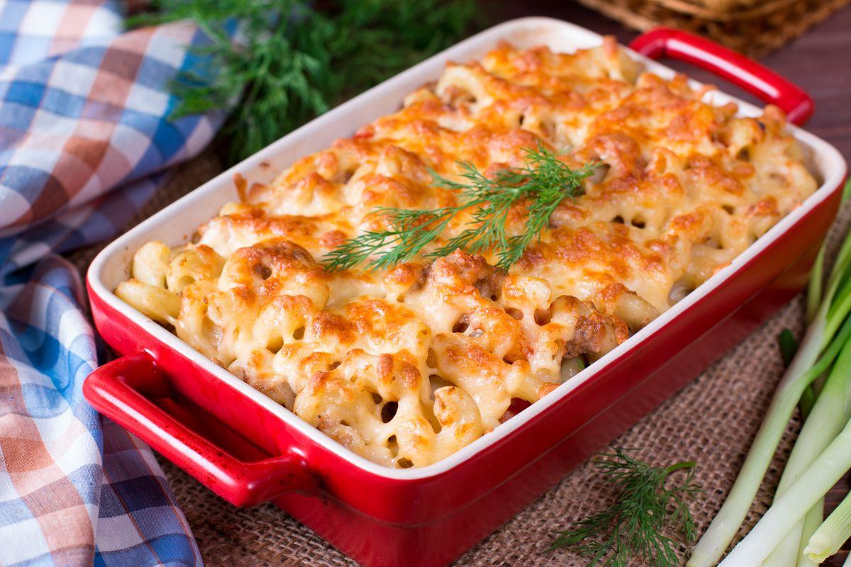 pasta al forno con patate e formaggi