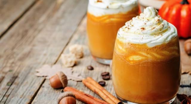Frappè di carote e gelato alla vaniglia con nocciole