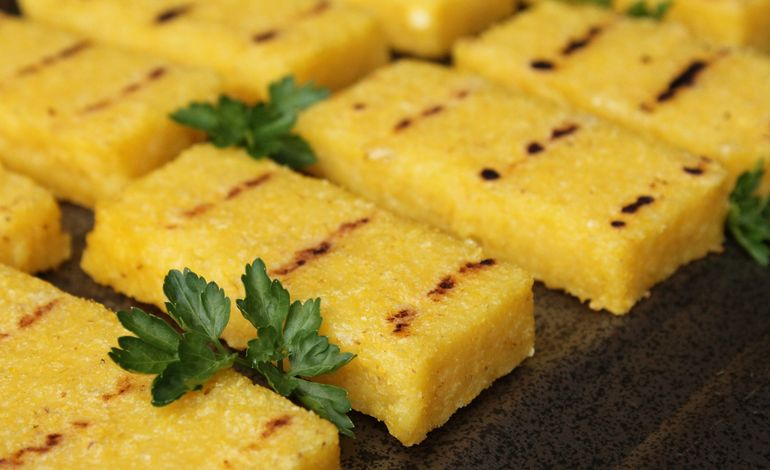 Crostini di polenta alla griglia