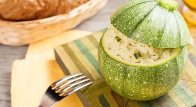 Risotto alle zucchine in cocotte ripiene