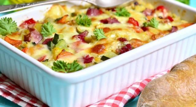 Terrina di verdure e patate al fumè