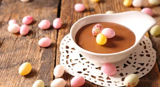 Mousse al cioccolato con gli avanzi delle uova di Pasqua