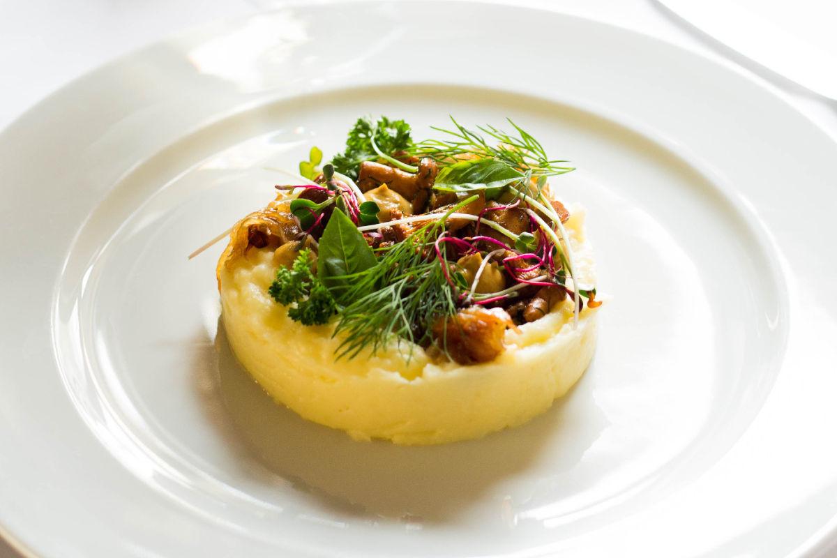 Sformato di patate con funghi