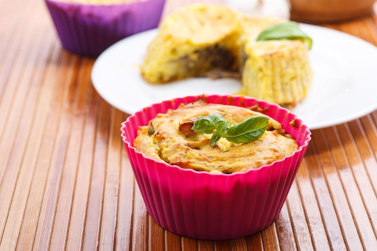 tortini al radicchio con balsamico e prosciutto