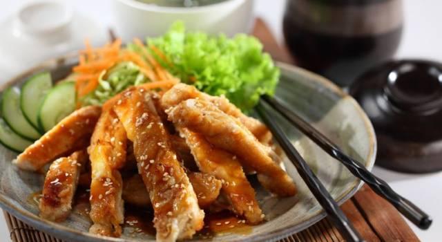 Pollo caramellato al miele e zenzero