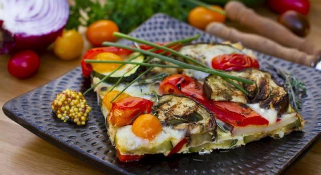 Focaccia di quinoa con verdure al timo