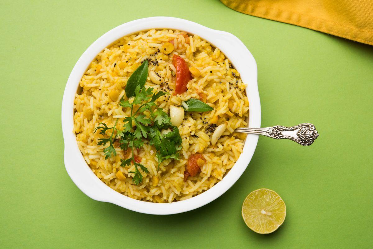 riso e lenticchie gialle