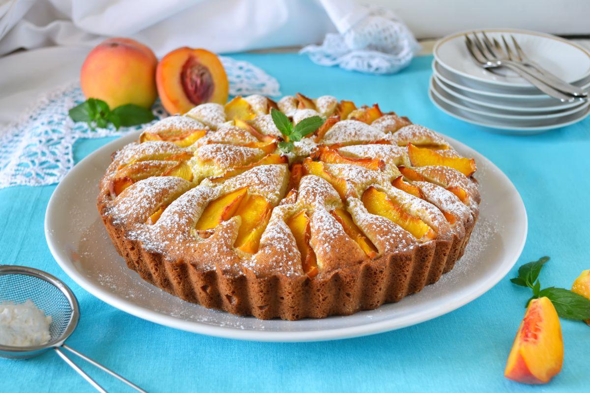 torta alle pesche senza uova