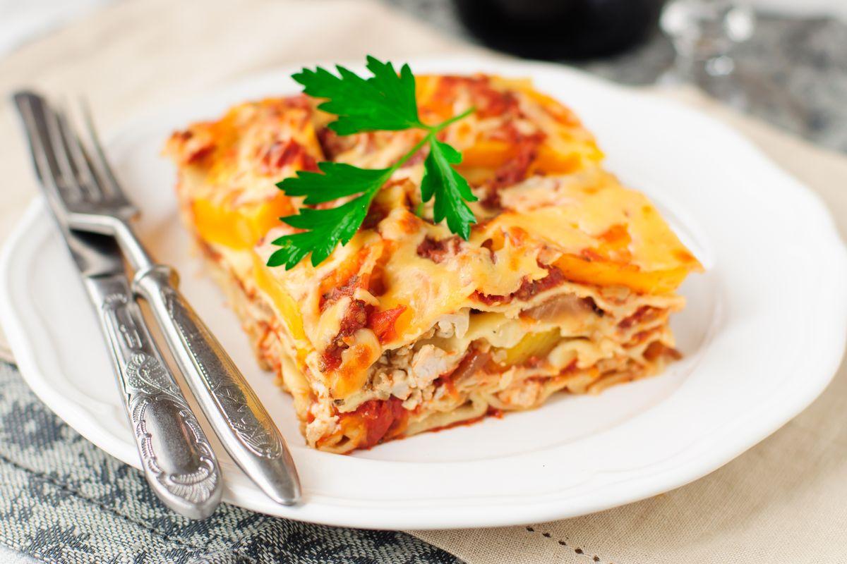 lasagne alla zucca e verdure invernali