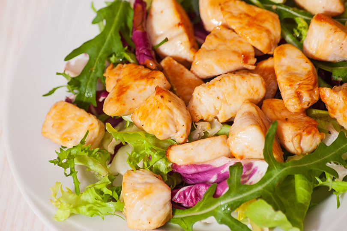 Ricetta salva tempo- pollo con radicchio e pinoli