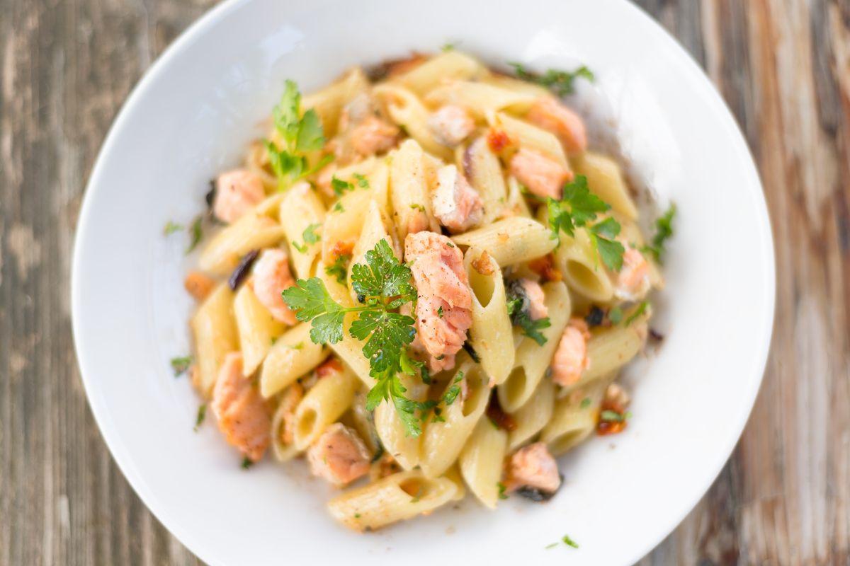 pasta al salmone fresco