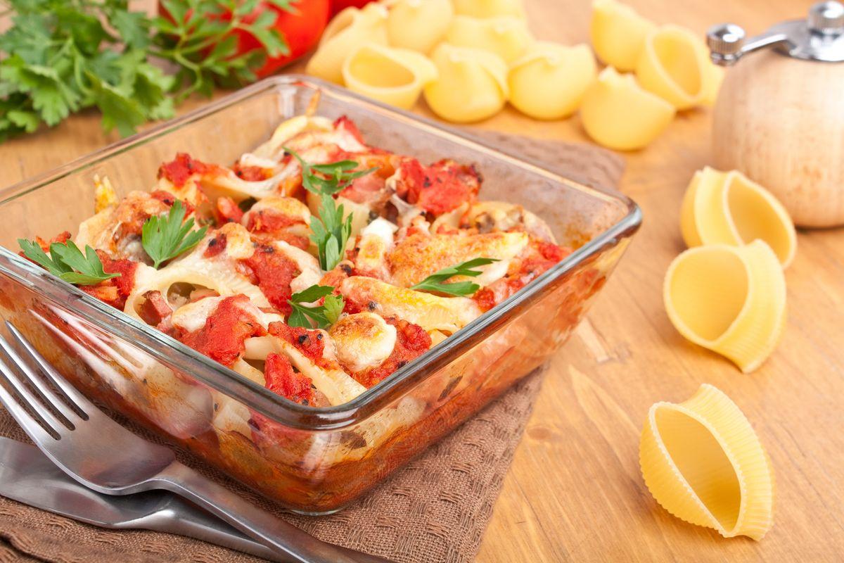 Pasta al forno con pomodorini