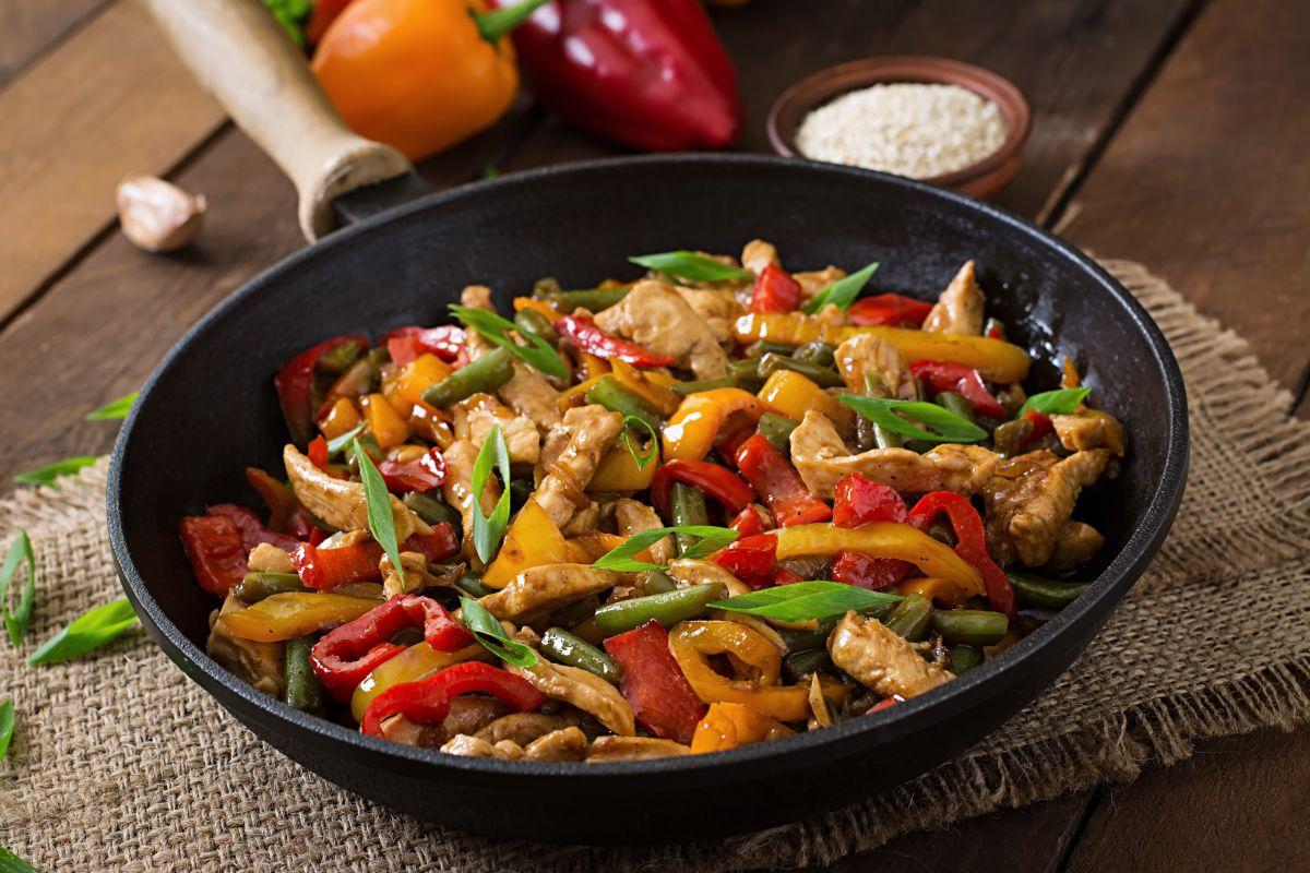 pollo alla soia e verdure