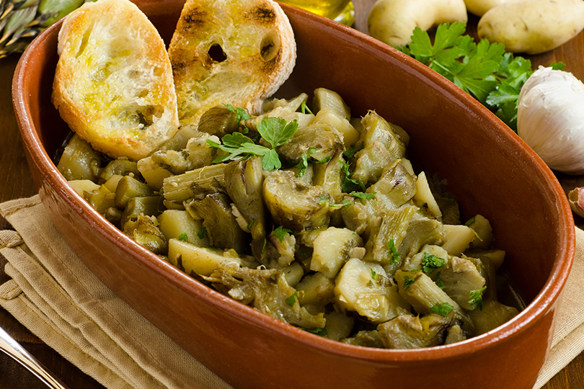 carciofi e patate alla toscana