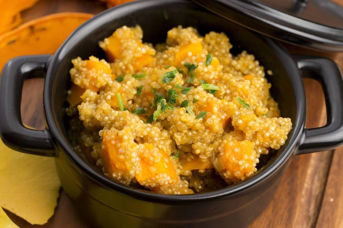 Quinoa con zucca e patate