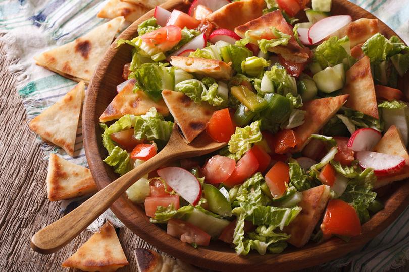 Il fattoush è un piatto della tradizione libanese