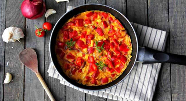 Ricetta salva spesa: frittata con i peperoni