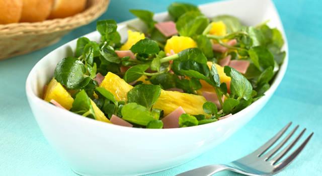 Ricetta salva tempo: insalata con prosciutto cotto e ananas