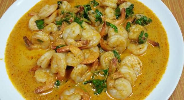 Zuppa di gamberi e patate