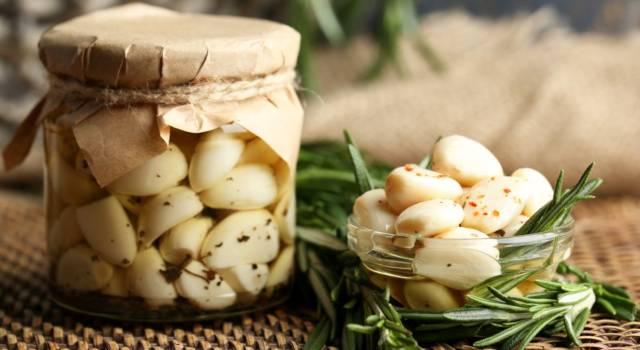 Aglio fresco e olio di qualità bastano per preparare un antipasto prelibato: l'aglio sott'olio!