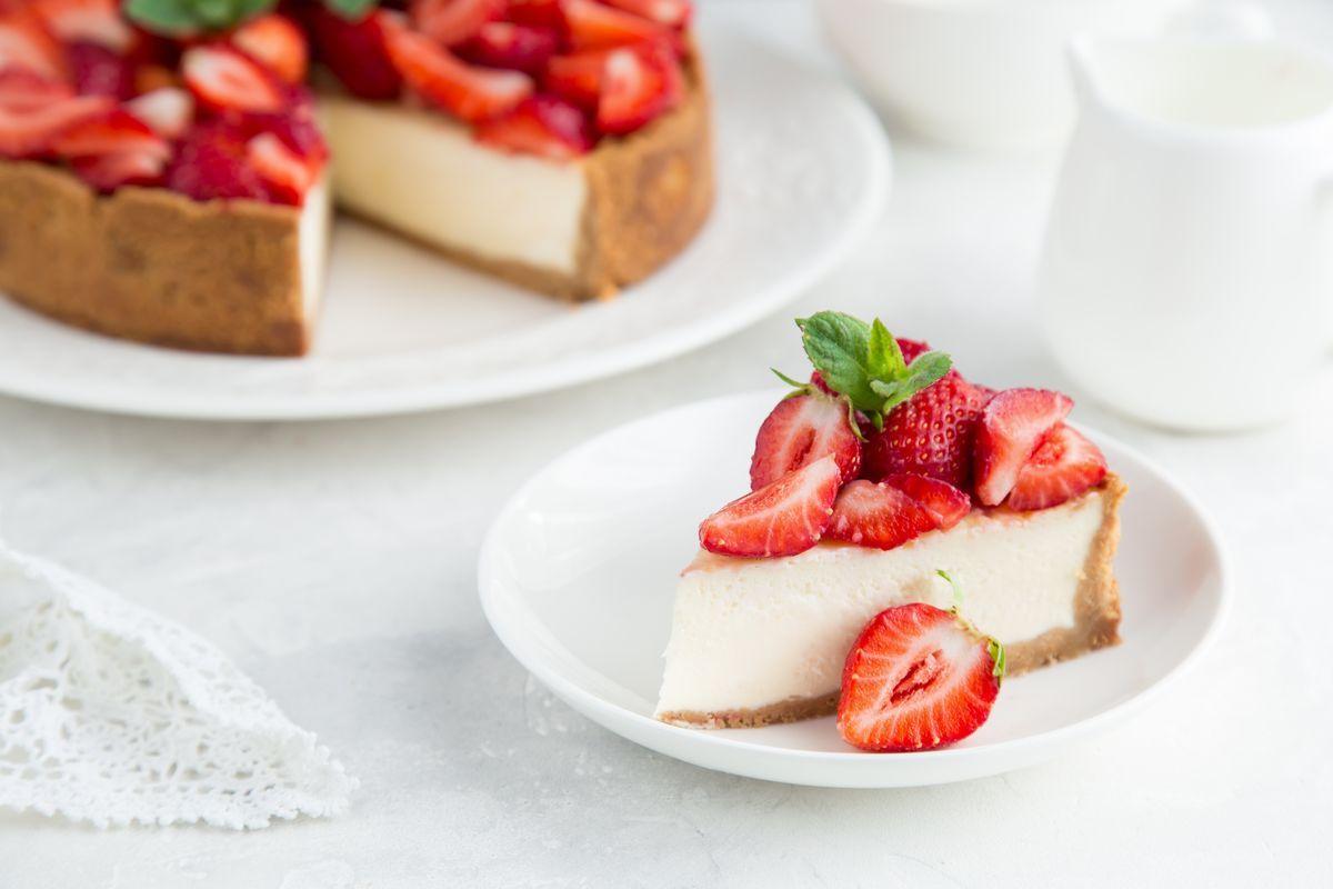 Cheesecake cioccolato bianco e fragole