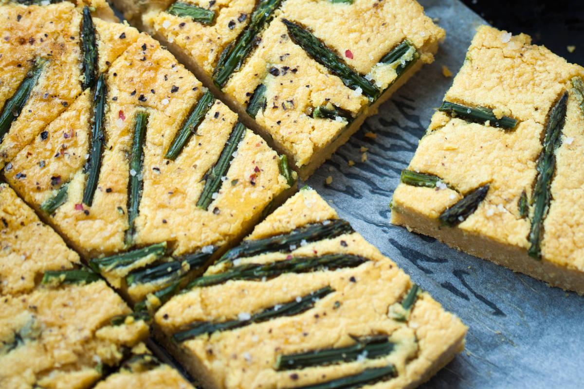 Farinata con gli asparagi