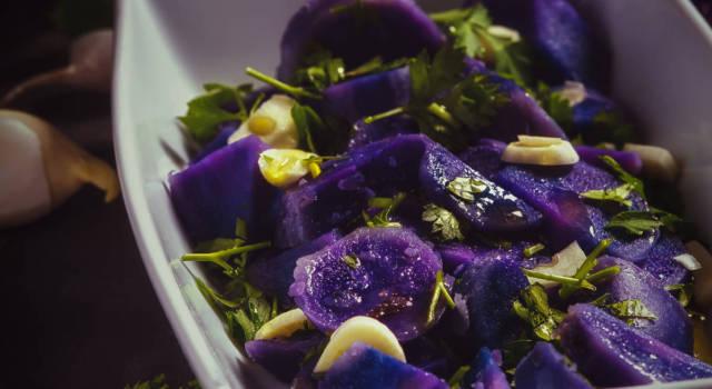Insalata di patate viola: facile, veloce e colorata!