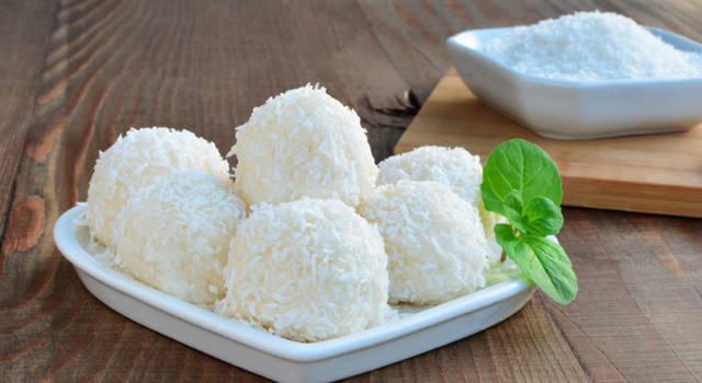 Praline di cocco e ricotta