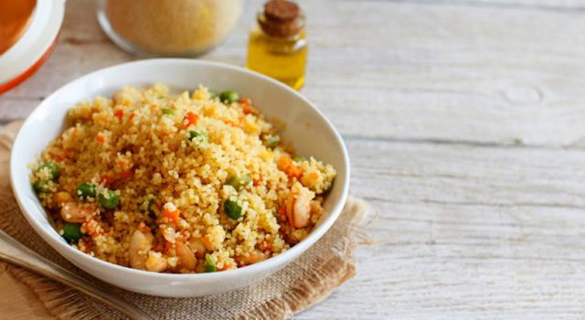 Couscous di calamari gamberi e verdure