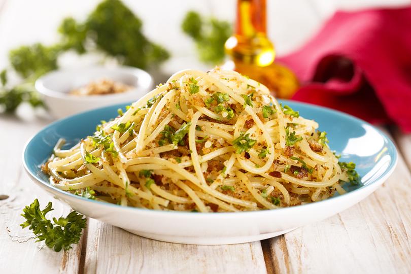 I velocissimi spaghetti con briciole di pane