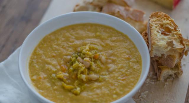 Zuppa di funghi e ceci: l'autunno in un piatto