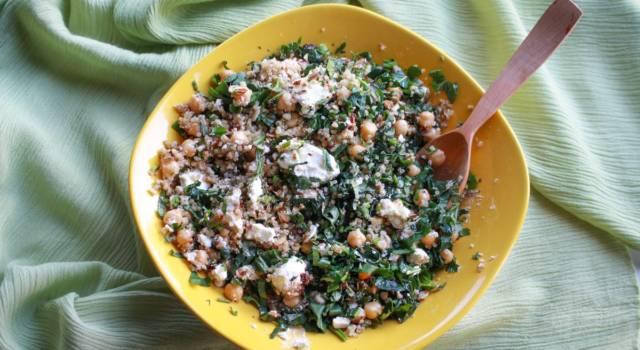 Delicata insalata di fagioli e ceci al prezzemolo