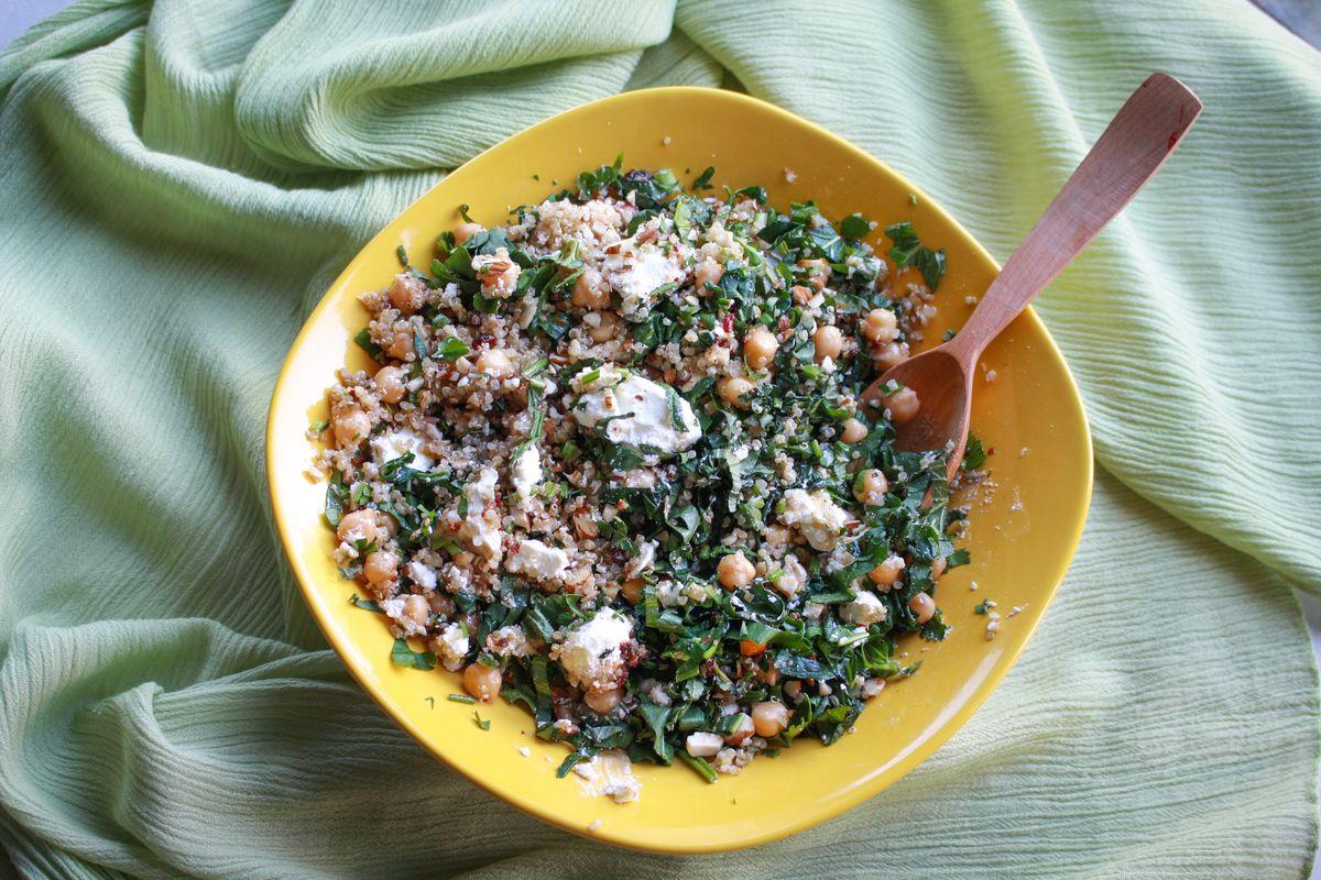 insalata con ceci e fagioli