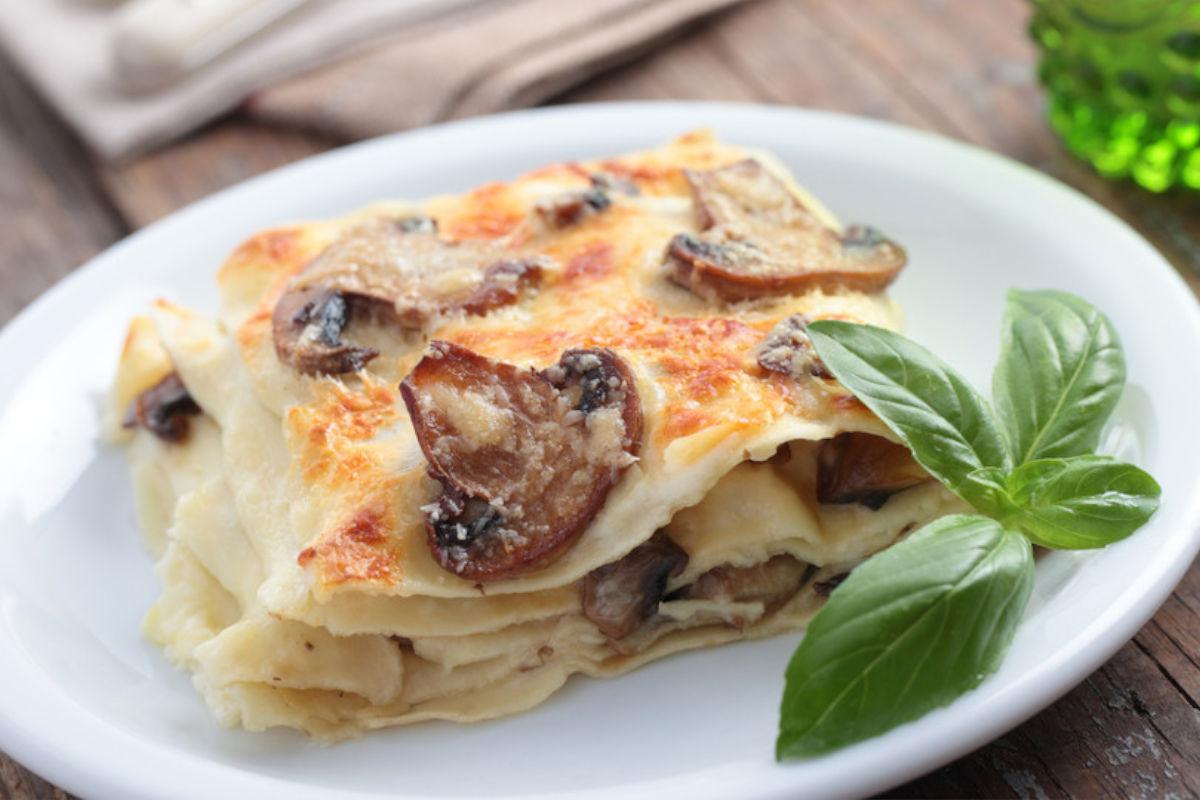 Lasagne ai funghi senza glutine