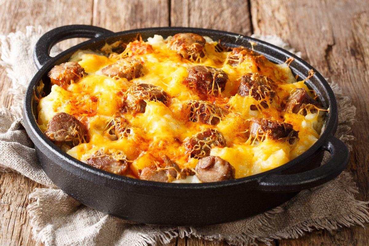sformato di patate al forno con salsiccia e mozzarella
