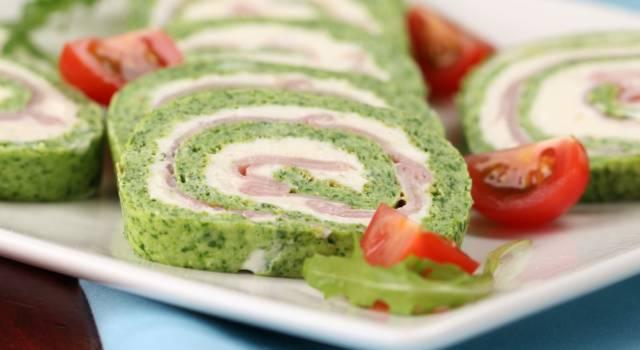 Rotolo di frittata agli spinaci con stracchino e prosciutto cotto: la ricetta senza glutine!