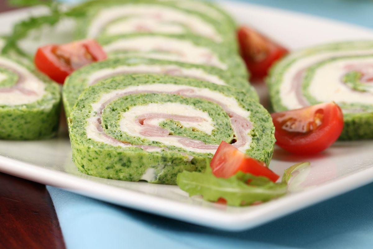 Rotolo di frittata agli spinaci senza glutine