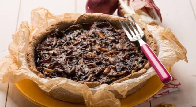 Torta salata radicchio e noci: bontà allo stato puro!
