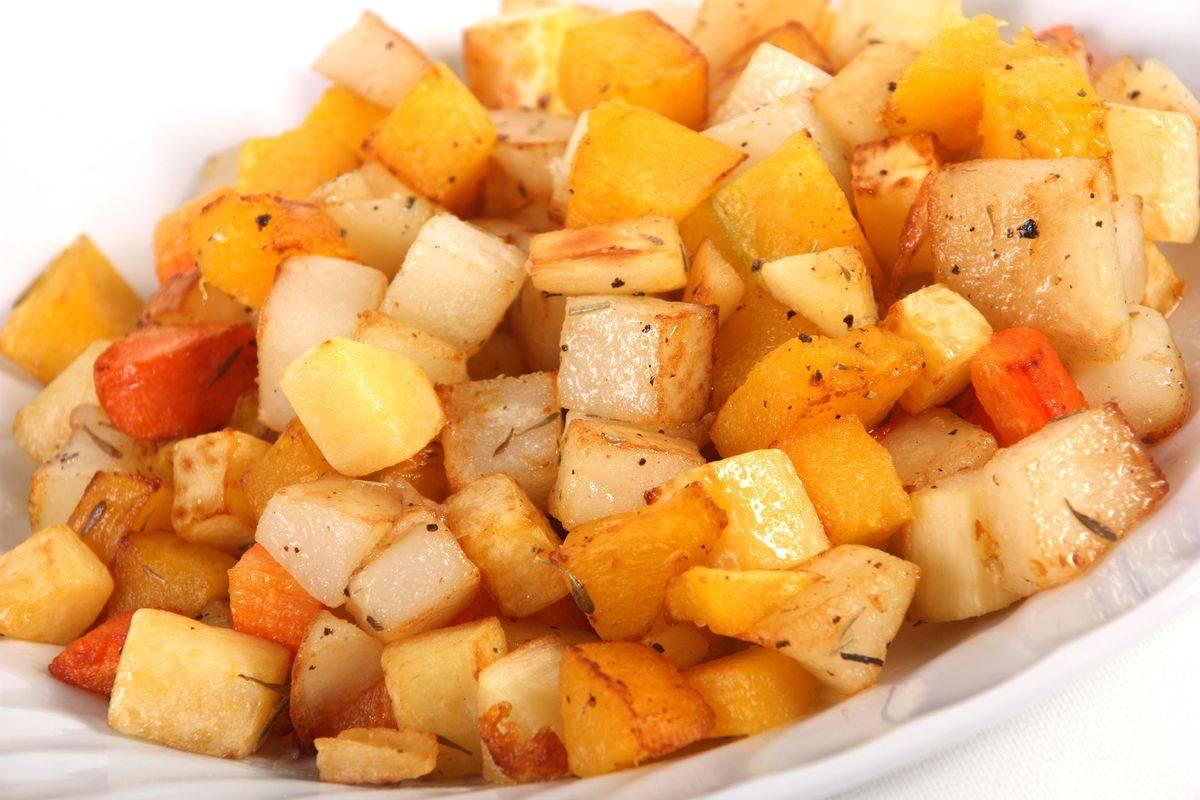 Dadolata di pastinaca e carote