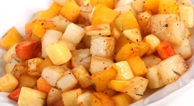 Dadolata di pastinaca e carote al curry: un contorno naturale e delizioso!