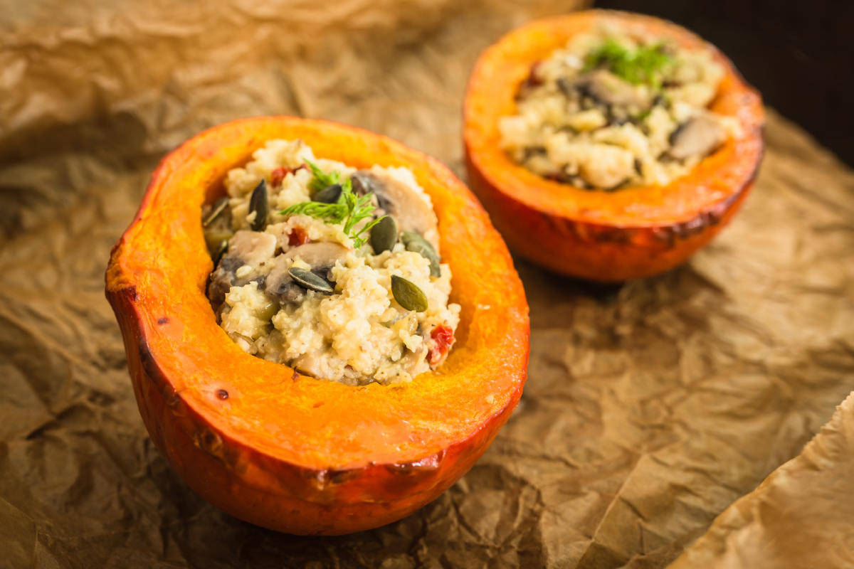 Come cucinare il miglio con zucca e funghi un primo for Cucinare miglio