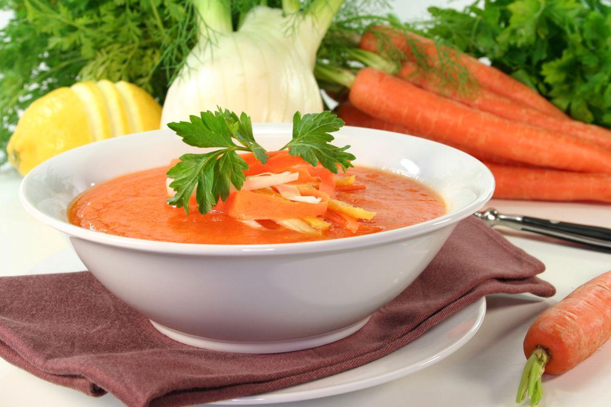 Minestra di carote e finocchi