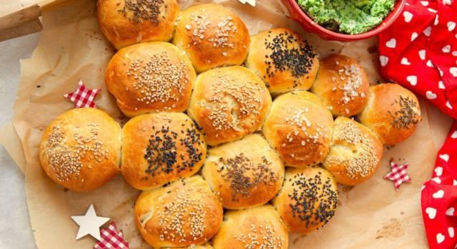 Albero di Natale di pane morbido: la ricetta vegana!