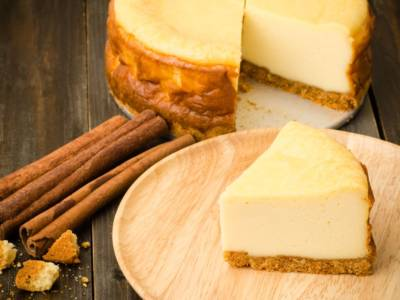 New York cheesecake al mascarpone con zenzero e cannella