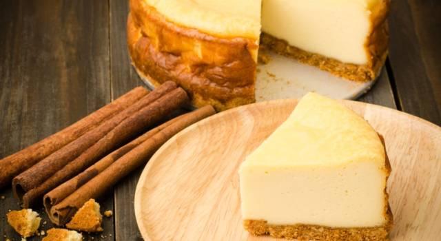 New York cheesecake al mascarpone con zenzero e cannella