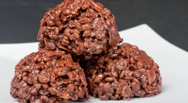 Cioccolatini fondenti al riso soffiato: dei deliziosi dolcetti senza glutine